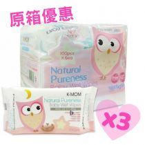 {Made in Korea} Mother-K - K-MOM Wet Tissue Basic 100pcs*18packs (Original box) M00042_3