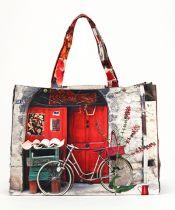 MBJPRCB06 Maron Bouillie 法國南部普羅旺斯風景圖案手提袋 (大) - 紅色