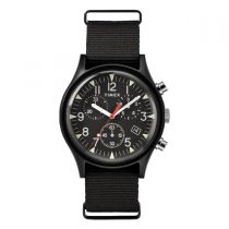 Timex MK1 Aluminum Chronograph 40mm Fabric Watch - Black TW2R67700