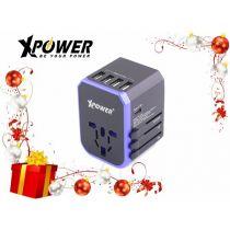 XPower TA5C 28W Type-C Travel Adapter (Black Blue) XP-TA5C-BKBL