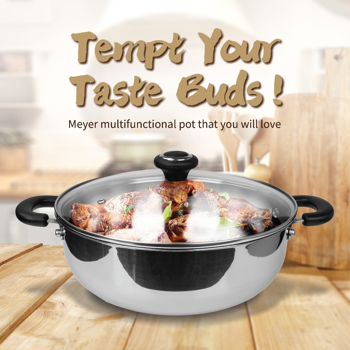 Pamper your palate with spicy chicken hotpot created in multifunctional cookware