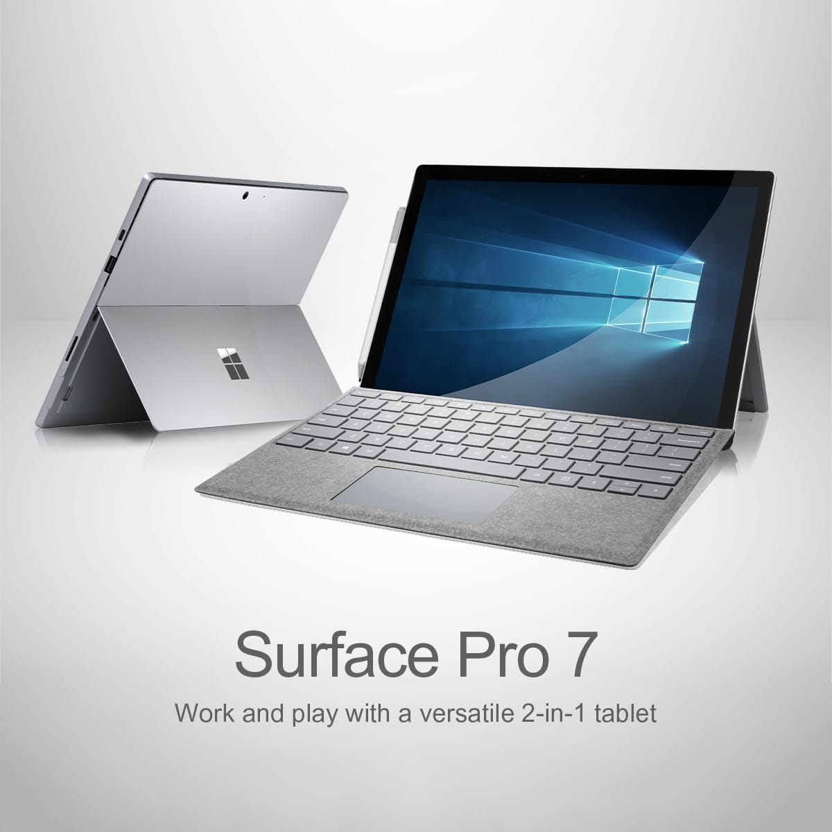 Work and play with the new Microsoft Surface Pro 7 – a versatile 2-in-1 tablet!