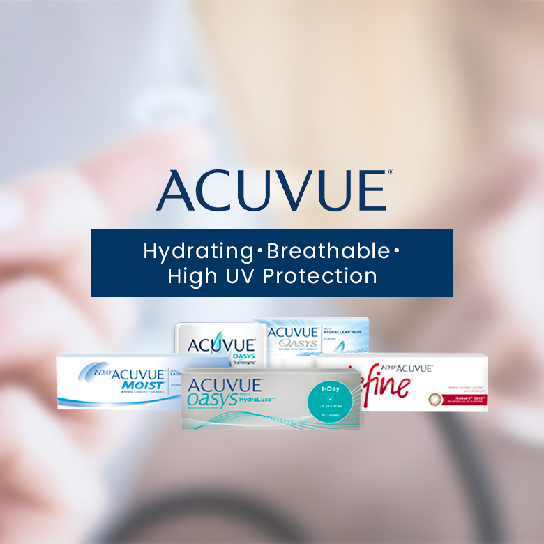 Never worry about dry or tired eyes!Opt for hydrating contact lenses with UV protection